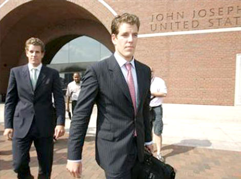 "April 7, 2008 - Facebook settles with the founders of ""ConnectU"", the Winklevoss twins and Divya Narendra, for a purported $65 million, according to promotional material later published by ConnectU's lawyers."