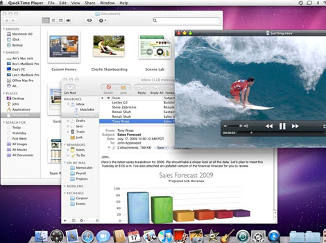 Mac OS X v10.6 (Snow Leopard) - Snow Leopard was publicly unveiled on June 8, 2009 at the Apple Worldwide Developers Conference. Unlike previous versions of Mac OS X, the goals with Snow Leopard were improved performance, greater efficiency and the reduction of its overall memory footprint.