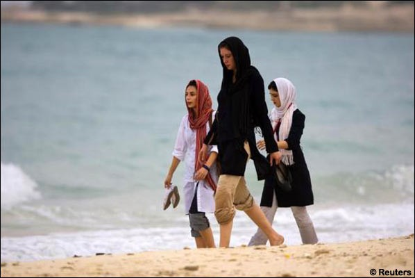 iranian women in beach