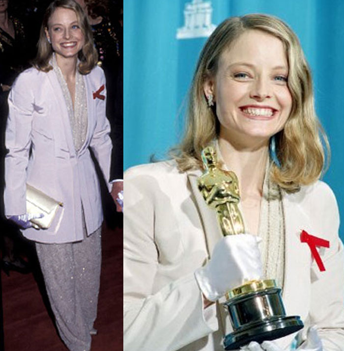 Jodie Foster, 2009: The Silence Of The Lambs actress, a red carpet regular, chose a Giorgio Armani suit this time round.