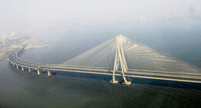 A shot of the Bandra Worli Sea Link (BWSL)