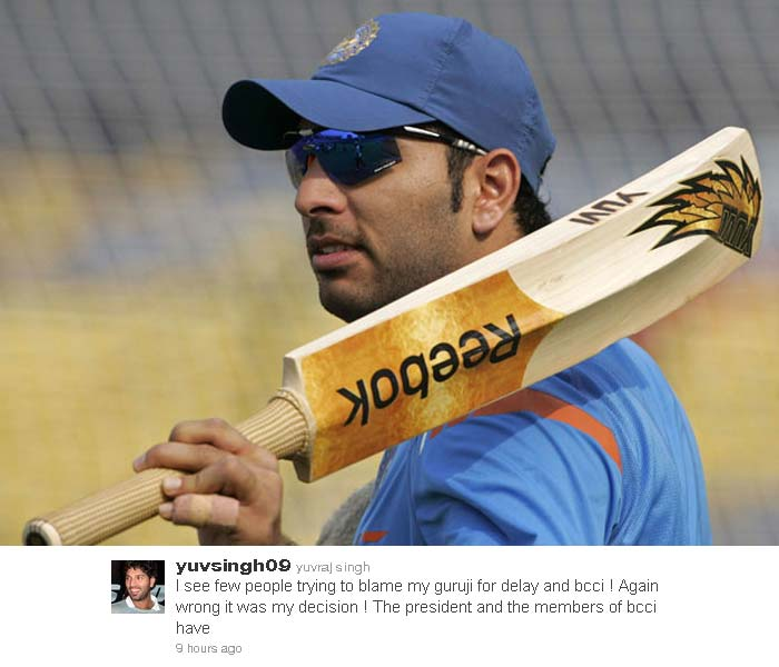 Yuvraj wrote that it was unfair to blame anyone after reports of BCCI's involvement in the issue.