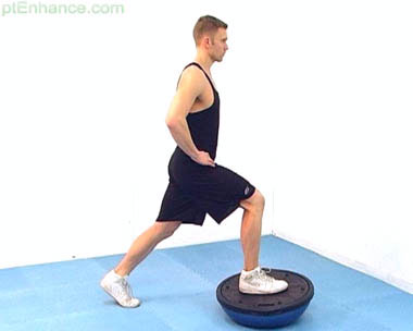 Lunges with bosu ball