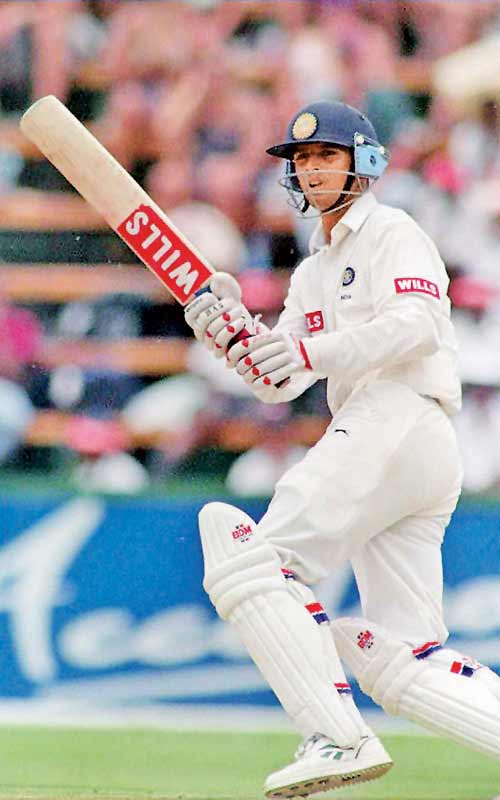 Rahul Dravid plays a stroke