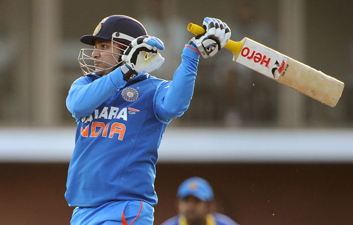 Sehwag, who started in aggressive fashion, paid the price of going after every delivery. He was dismissed by Maharoof.