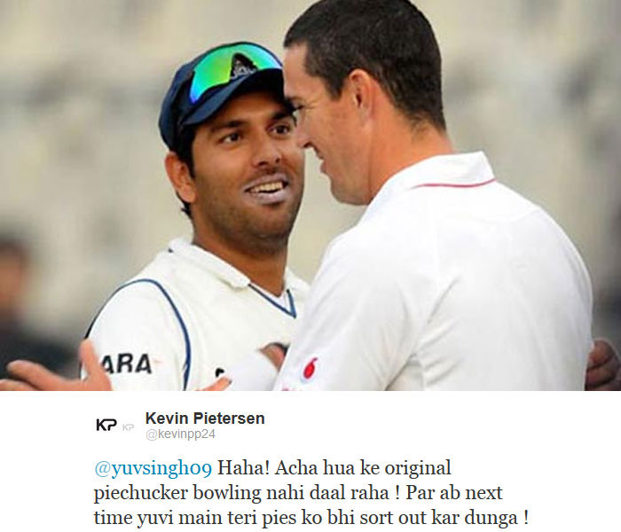 Kevin Pietersen pulled out a surprise tweet in Hindi.
